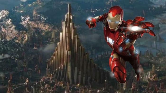 Trong kịch bản gốc, Iron Man mới là người trở về Asgard để lấy Viên đá Không gian.