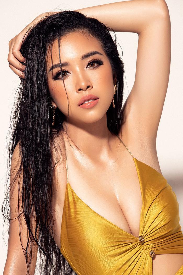 Á hậu Thúy An khoe body hút mắt, xuất hiện nổi bật trên trang chủ Miss Intercontinental ảnh 1
