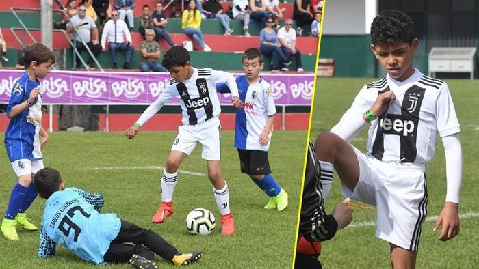 Con trai Ronaldo ghi đến 58 bàn thắng qua 28 trận đấu.