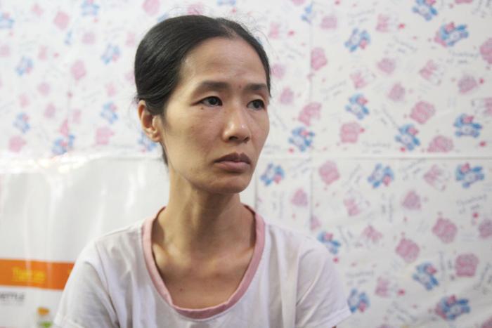 Ngày nghe tin chồng gặp nạn, chị Trang đã rất sốc.