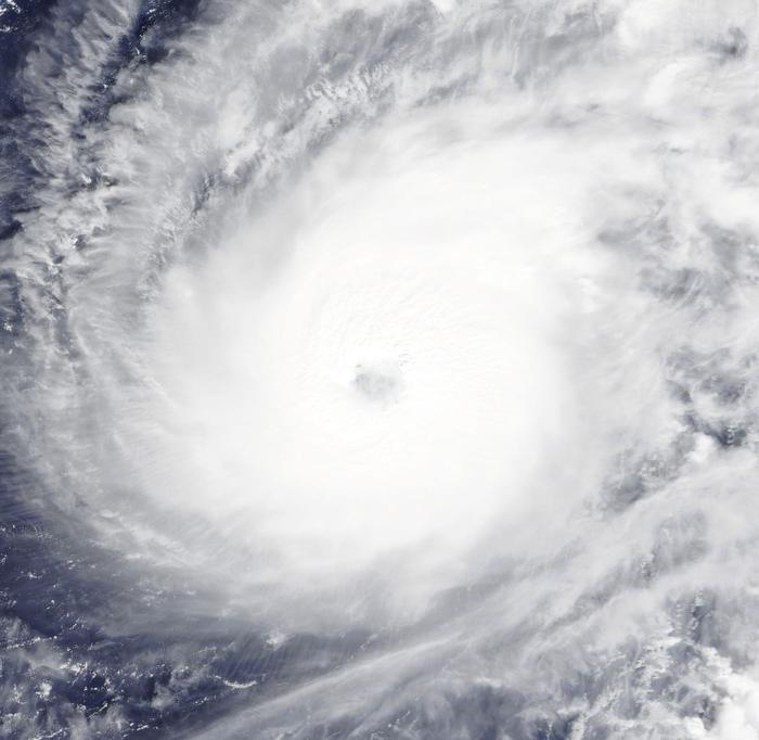 Ảnh chụp thực tế siêu bão Hạ Long nhìn từ vệ tinh của NASA.