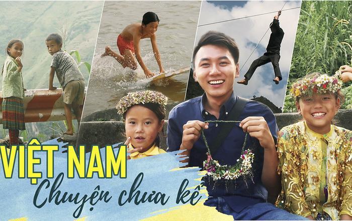 """Đoạn video """"Việt Nam chuyện chưa kể   Vietnam Untold Story"""" của Khoai Lang Thang xuất hiện hình ảnh của rất nhiều các em nhỏ (dân tộc miền núi, người lạ hoặc con cái, người thân họ hàng có sự quen biết,…)."""