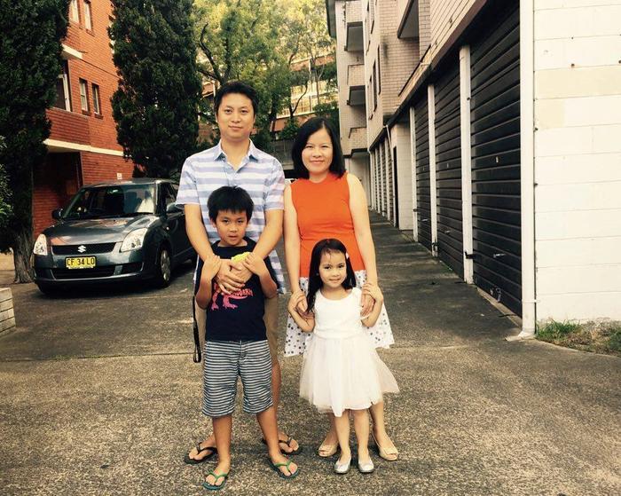 Gia đình nhỏ của Thành Vinh hiện đang sinh sống và làm việc tại Australia