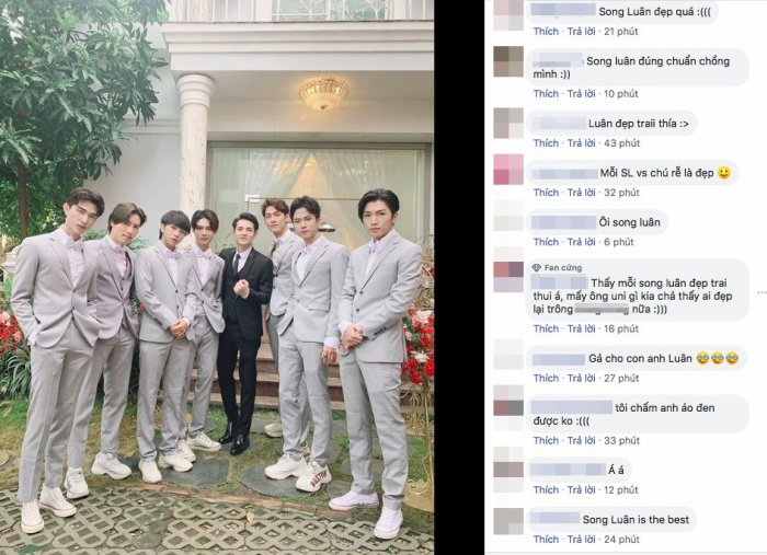 Trên các trang mạng xã hội, đông đảo khán giả bày tỏ sự yêu thích dành cho Song Luân.