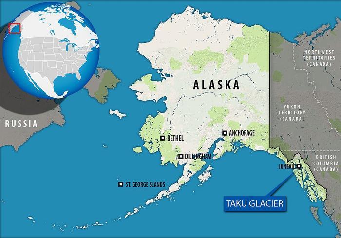 Taku là sông băng ở Alaska.