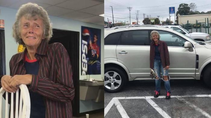 Người nhân viên già bật khóc khi nhận xe ô tô mới từ số tiền quyên góp của các mạnh thường quân sau khi họ biết chuyện bà đi bộ 19 km từ nhà tới cơ quan ròng rã 3 tháng.
