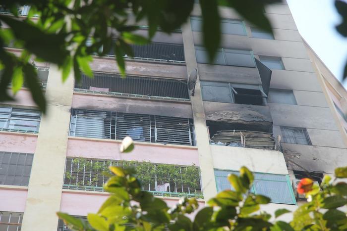 Căn hộ chung cưtrong làng quốc tế Thăng Long bị cháy