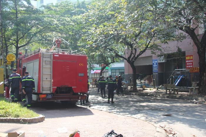 Lực lượng Cảnh sát Phòng cháy chữa cháy tại hiện trường
