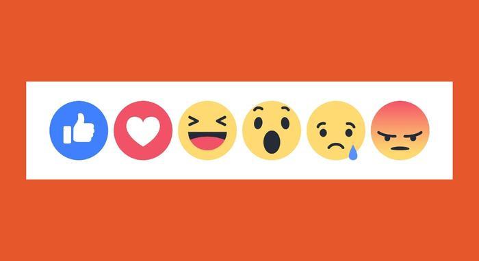 Trước đây, Facebook chỉ có nút Like. Về sau, nó phát triển thành bộ Reactions bao gồm 6 cảm xúc.
