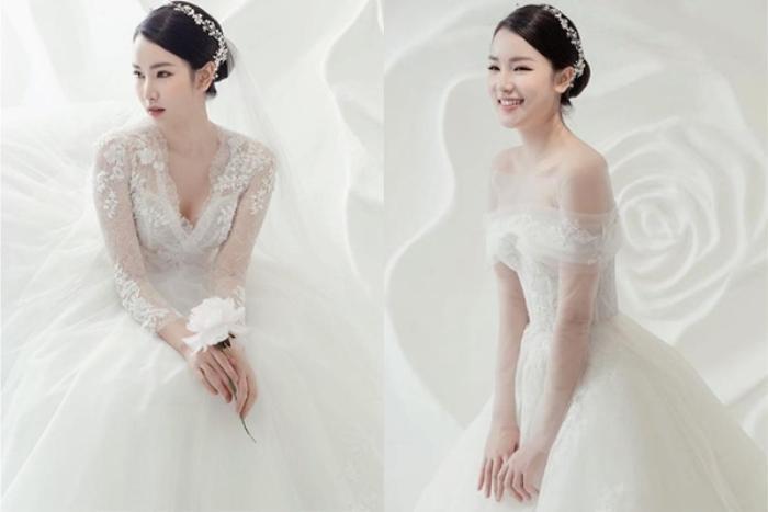 Cô nàng vô cùng xinh đẹp khi diện váy cưới