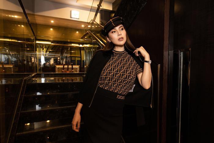 Hoa hậu Phương Lê khoe khéo eo thon, cằm Vline sau khi giảm cân thành công ảnh 8