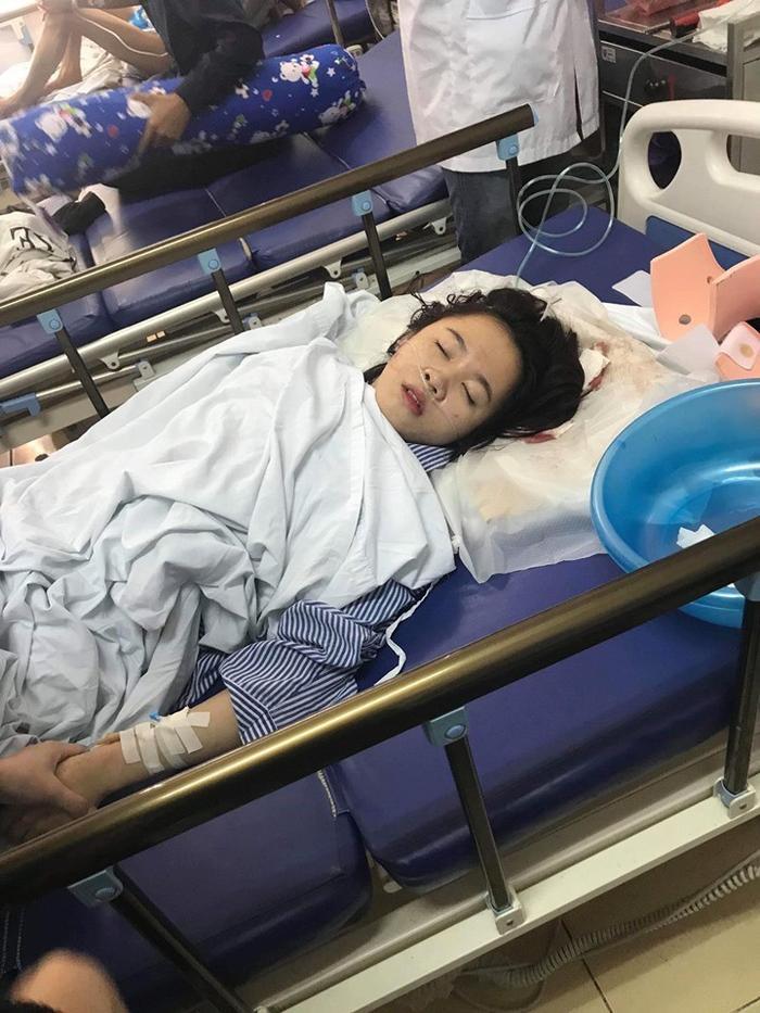Thời điểm Cúc được đưa vào bệnh viện.