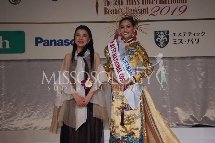 Tường San nhận thêm giải thưởng Trang phục dân tộc đẹp nhất tại Miss International 2019