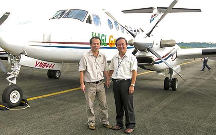 Bầu Đức từng là một trong những doanh nhân đầu tiên ở Việt Nam có máy bay riêng. (Ảnh: Internet)