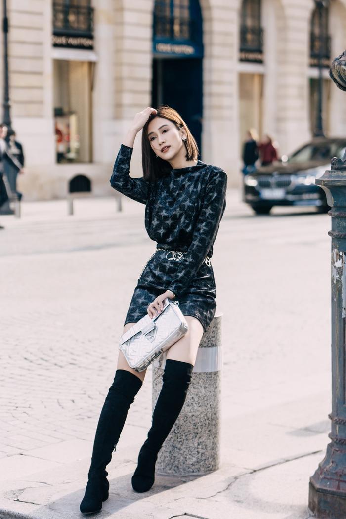 Mang loạt túi hiệu nghìn đô, á hậu Hà Thu chiếm sóng tại đường phố Paris ảnh 7