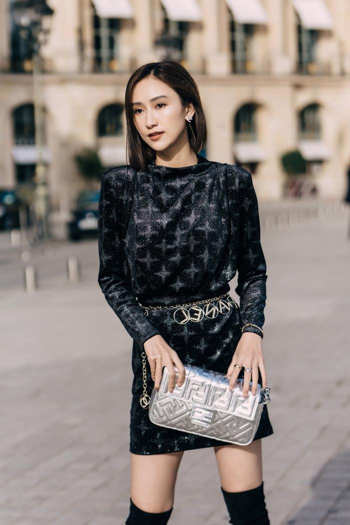 Mang loạt túi hiệu nghìn đô, á hậu Hà Thu chiếm sóng tại đường phố Paris ảnh 6