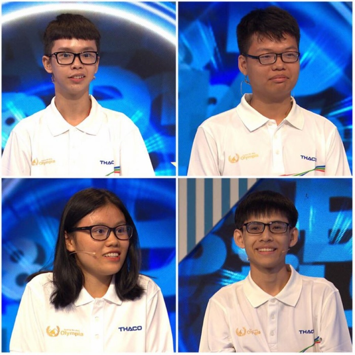 Các thí sinh dự thi: Công Đức, Toàn Thắng, Hồng Nhung, Nhật Huy