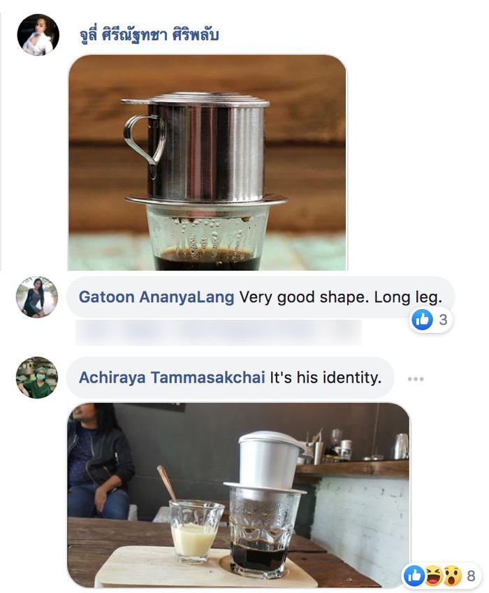 """Sau khi National Costume của Hoàng Thùy được công bố, fan quốc tế nhận ra ngay """"Cà phê phin sữa đá"""". Hình ảnh món đồ uống đặc trưng của Việt Nam đây rồi!"""