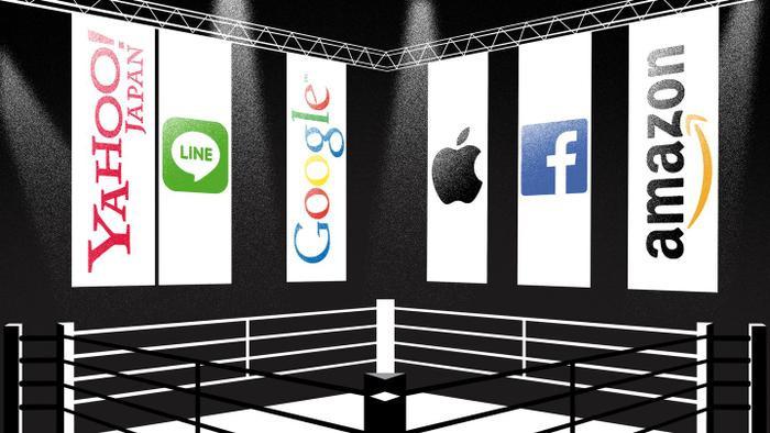 Yahoo Nhật Bản và Line đồng ý sáp nhập để tăng khả năng cạnh tranh. (Ảnh: Nikkei)