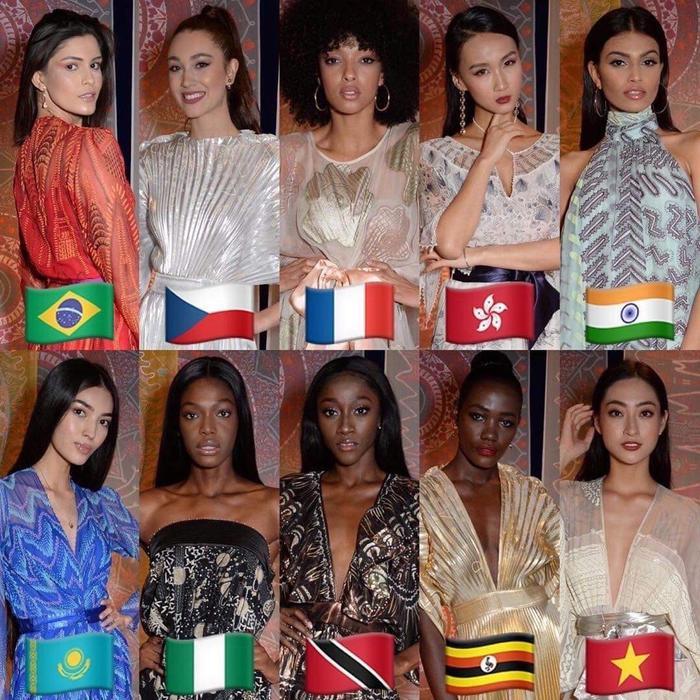 Nhóm 10 thí sinh được đánh giá cao nhất trong phần thi Top Model. Kết quả sẽ được công bố trong đêm chung kết Miss World 2019.