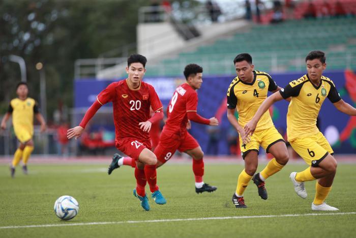 U22 Việt Nam đã có được chiến thắng khủng với tỷ số 6-0 trước Brunei ở trận đầu ra quân tại SEA Games 30. (Ảnh: Soha)