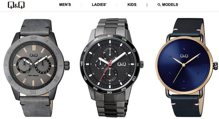 Đồng hồ Q&Q có mẫu mã đa dạng cho cả nam và nữ, phù hợp với mọi đối tượng từ trẻ em cho đến người lớn tuổi.