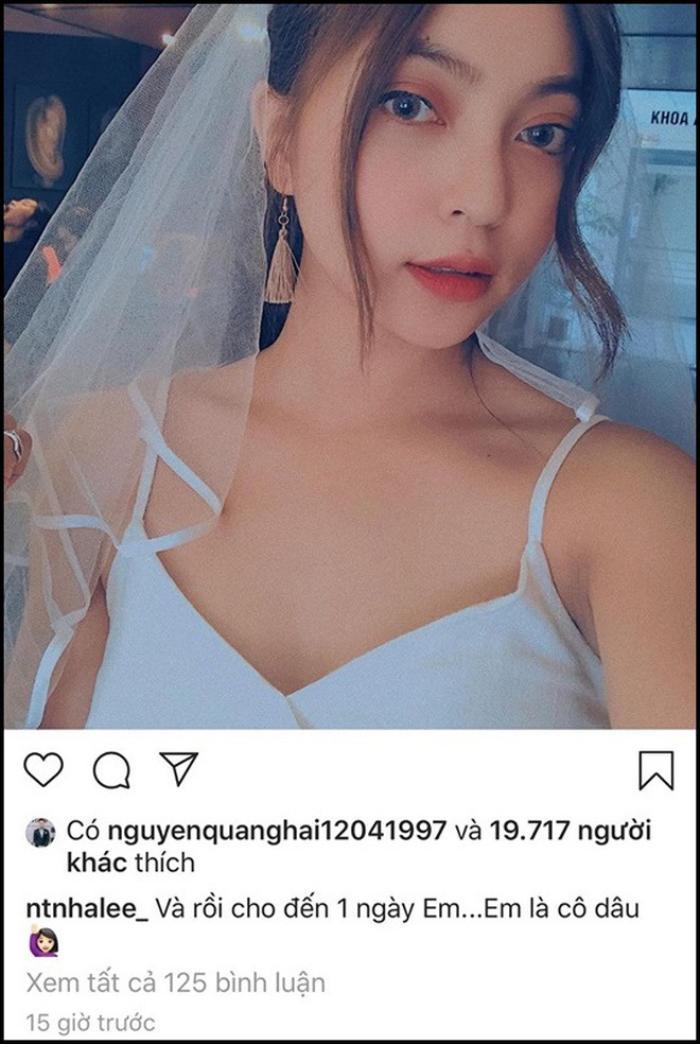 """Quang Hải vẫn âm thầm like ảnh """"đều đều"""" cho Nhật Lê."""