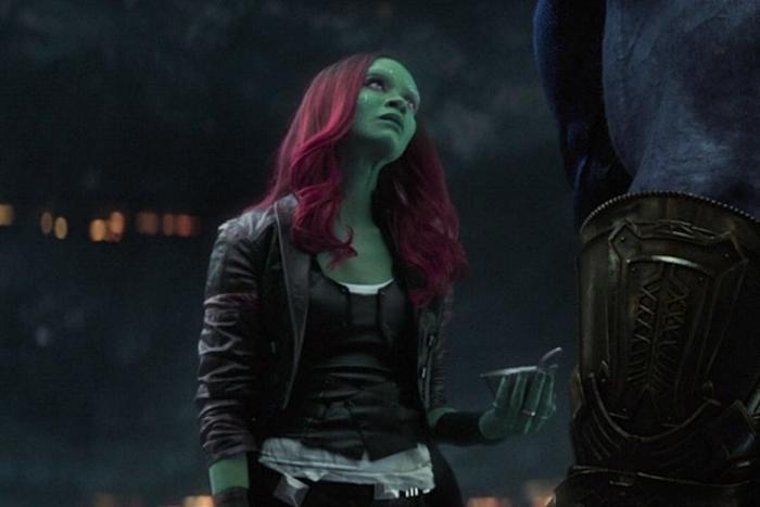 Gamora không trốn tránh mà chạy thẳng đến chỗ Thanos.