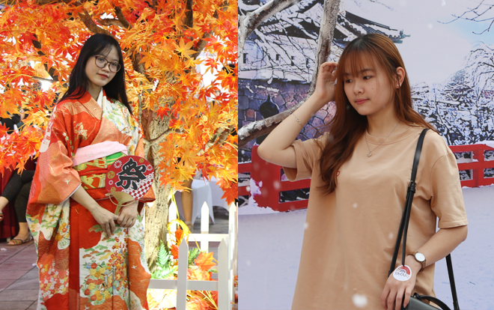 Người trẻ đua nhau check-in, thích thú trải nghiệm văn hóa Nhật giữa lòng Hà Nội ảnh 5