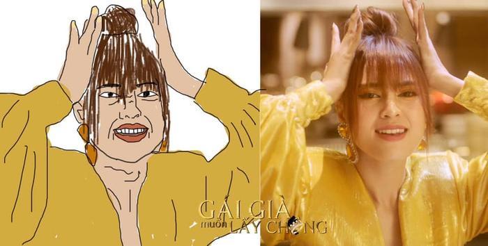 Hình ảnh của nữ diễn viên trong MV mới đây đã được thực hiện theo style hoạt hình cực kỳ hài hước.
