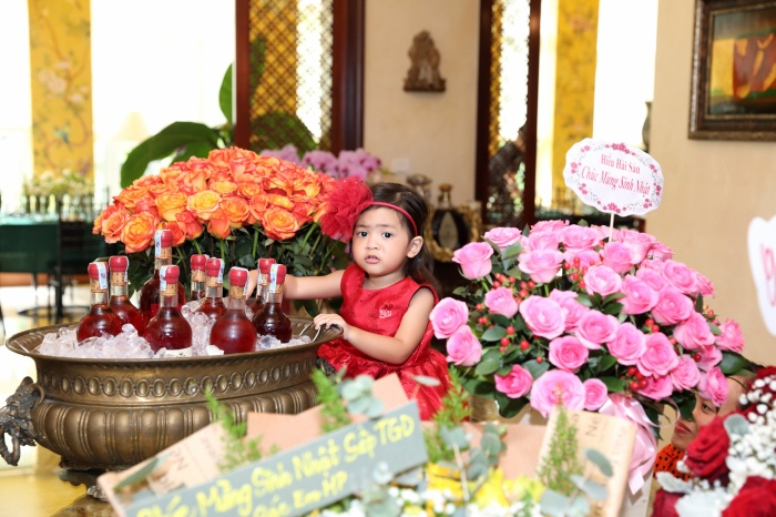 Gia đình Vũ Cẩm Nhung tổ chức sinh nhật cho con gái Vi Anh