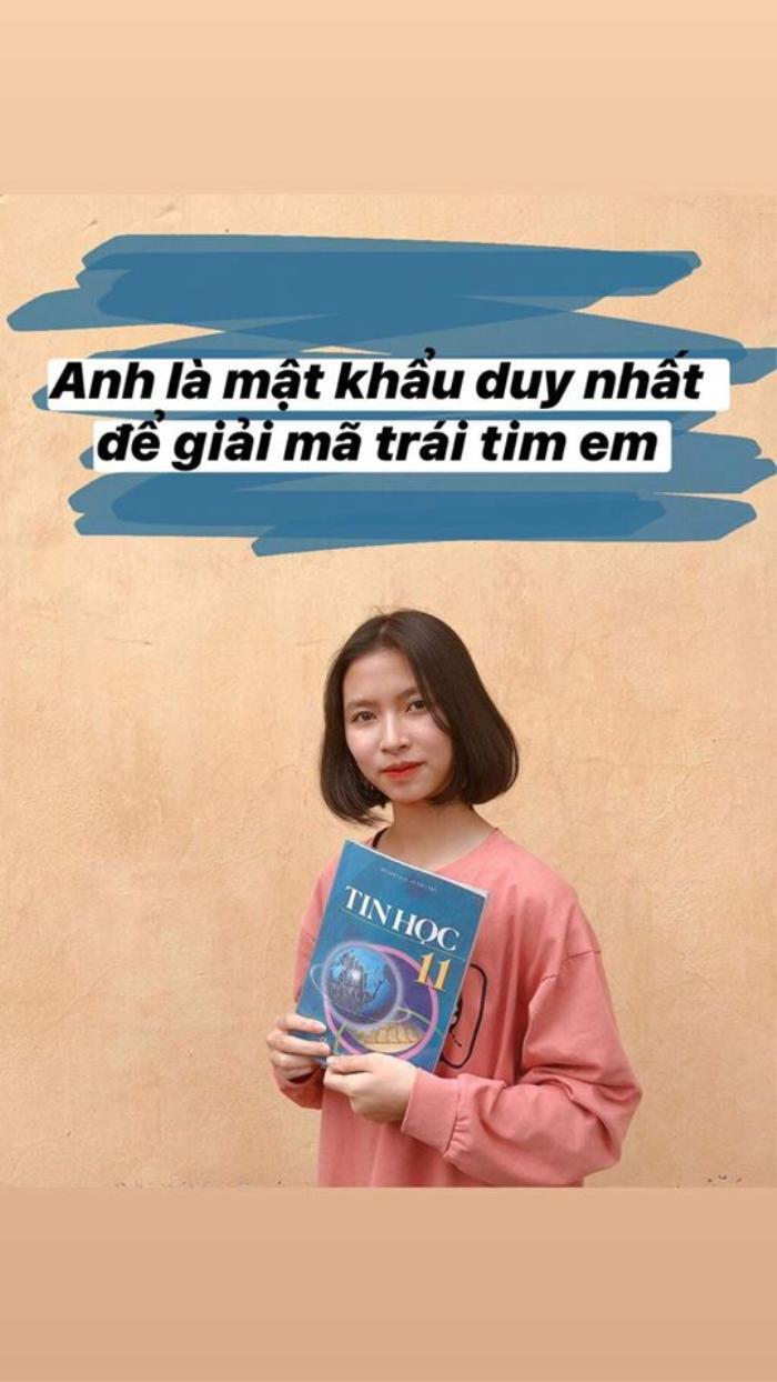 Màn bắt trend thả thính từ sách giáo khoa 'chất lừ' của học sinh tỉnh Vĩnh Phúc: 'Hình học không gian rắc rối như đường vào tim anh'