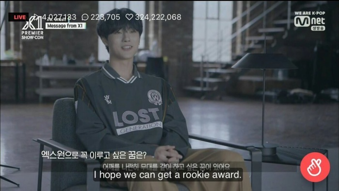 """Nguyện vọng của Cho Seung Yeon: """"Mình hy vọng bọn mình có thể đạt giải Tân binh""""."""
