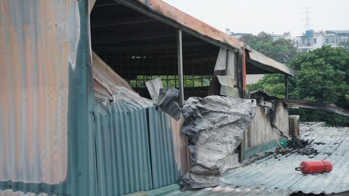 Căn nhà nơi diễn ra vụ cháy lớn khiến 3 bà cháu tử vong.