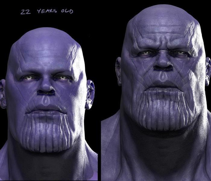Thanos 22 tuổi và hiện tại.