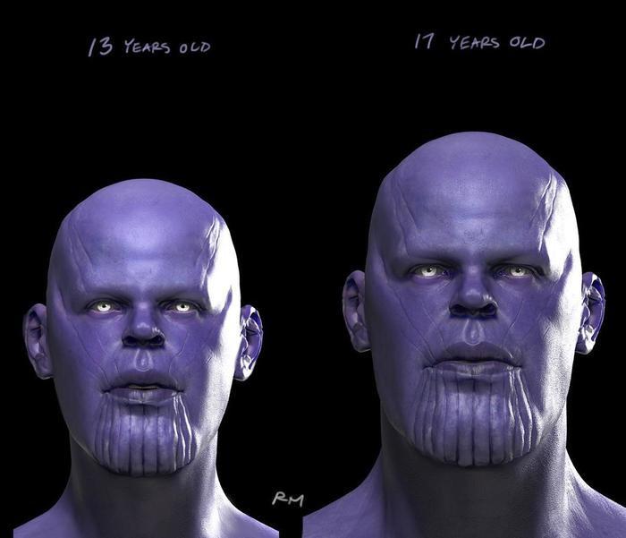 Thanos 13 và 17 tuổi.