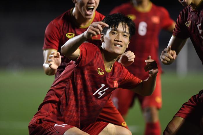 Màn ghi bàn ở phút 90+1 của Nguyễn Hoàng Đức đã mang về chiến thắng cho U22 Việt Nam. (Ảnh:Danviet)