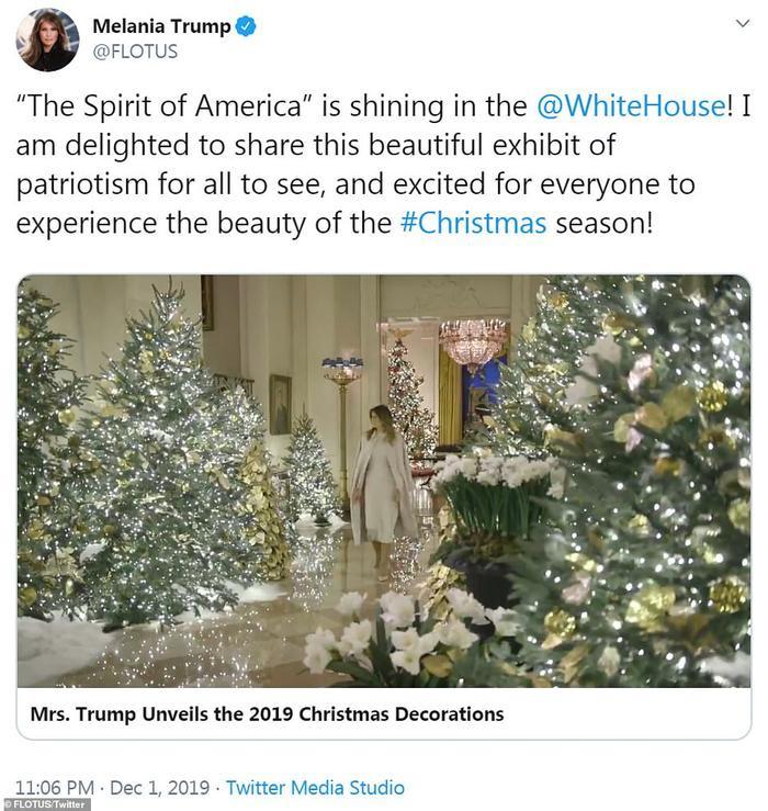Nhà Trắng đẹp lung linh dưới bàn tay bà Melania Trump mùa Giáng sinh - Ảnh 4.