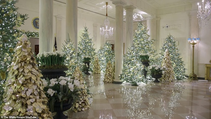 Nhà Trắng đẹp lung linh dưới bàn tay bà Melania Trump mùa Giáng sinh - Ảnh 15.