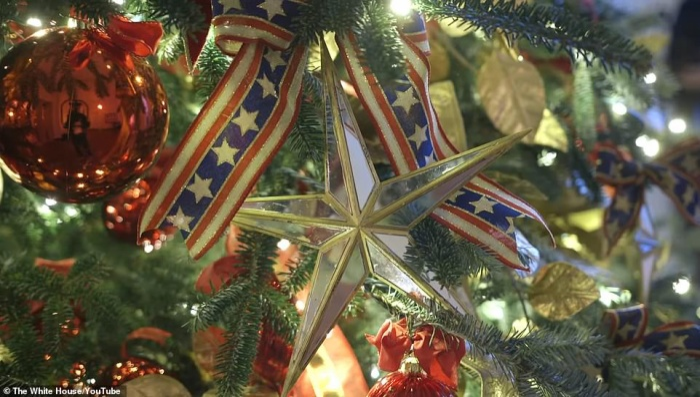 Nhà Trắng đẹp lung linh dưới bàn tay bà Melania Trump mùa Giáng sinh - Ảnh 8.