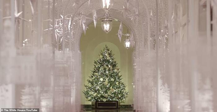 Nhà Trắng đẹp lung linh dưới bàn tay bà Melania Trump mùa Giáng sinh - Ảnh 6.