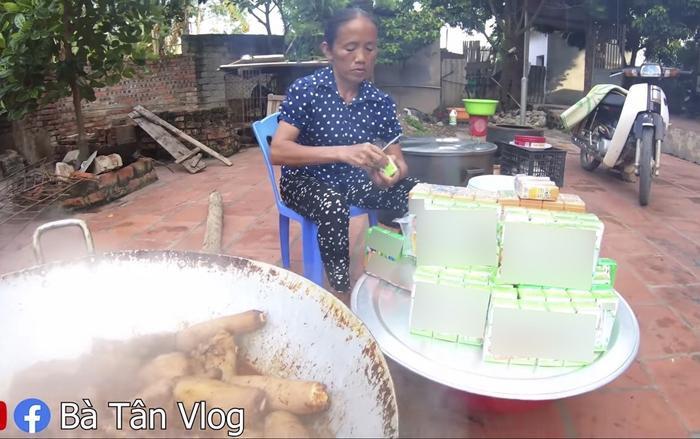 """Chi tiết bị cho là quảng cáo quá lố trong vlog làm món """"đuôi bò hầm sữa"""" của Bà Tân."""