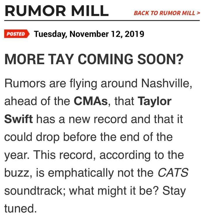 Mặt khác, nhiều nguồn tin ngầm cũng đã rằng trước khi năm 2019 kết thúc, nàng Swift sẽ cho ra mắt thêm ít nhất một sản phẩm để khép lại một năm đầy thành công. Liệu rằng tin đồn này có thật?