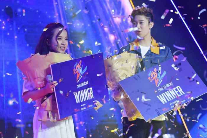 Hai quán quân của Z-POP Dream mùa 2: Châu Anh và Phi Long.