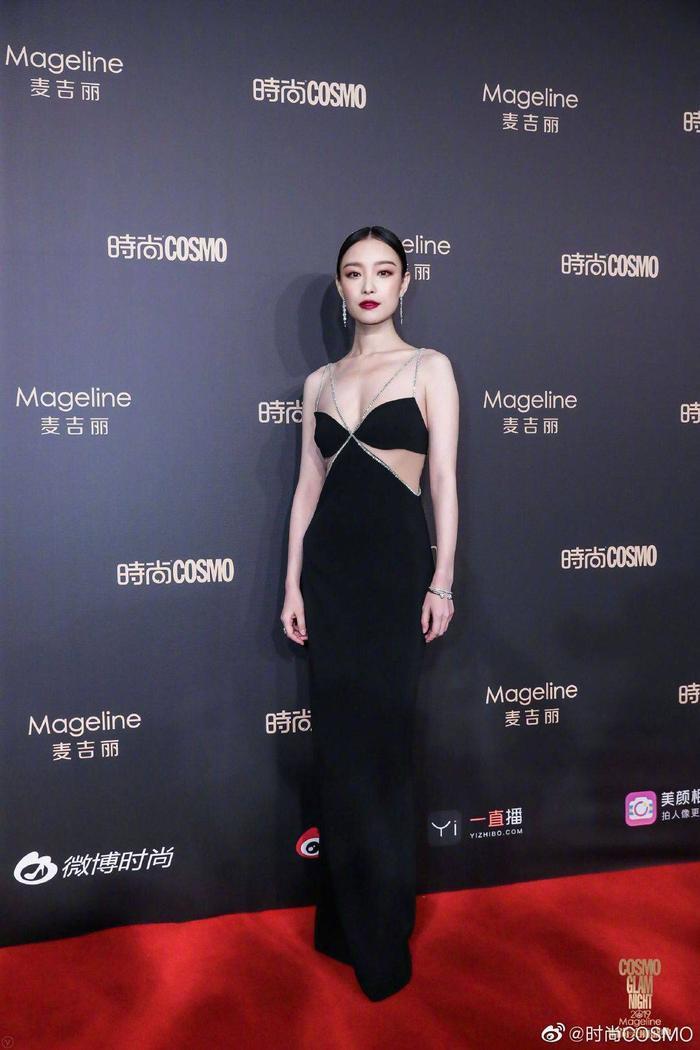 Lưu Thi Thi đẹp nền nã, Địch Lệ Nhiệt Ba khoe vòng một khủng trên thảm đỏ Cosmo Glam Night 2019 ảnh 5