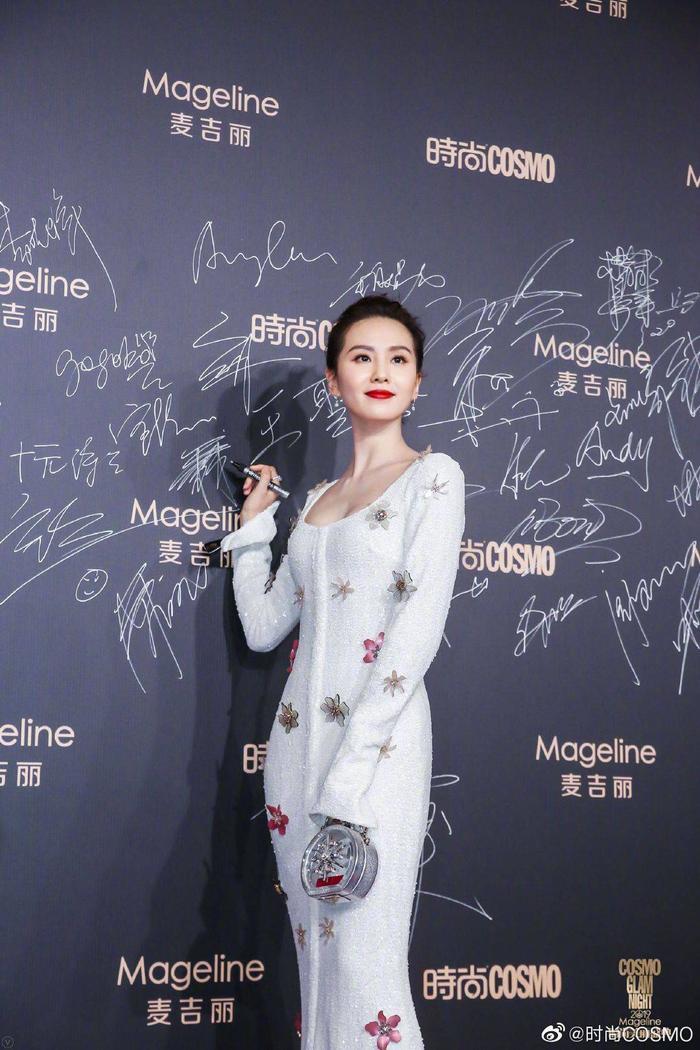 Lưu Thi Thi đẹp nền nã, Địch Lệ Nhiệt Ba khoe vòng một khủng trên thảm đỏ Cosmo Glam Night 2019 ảnh 10