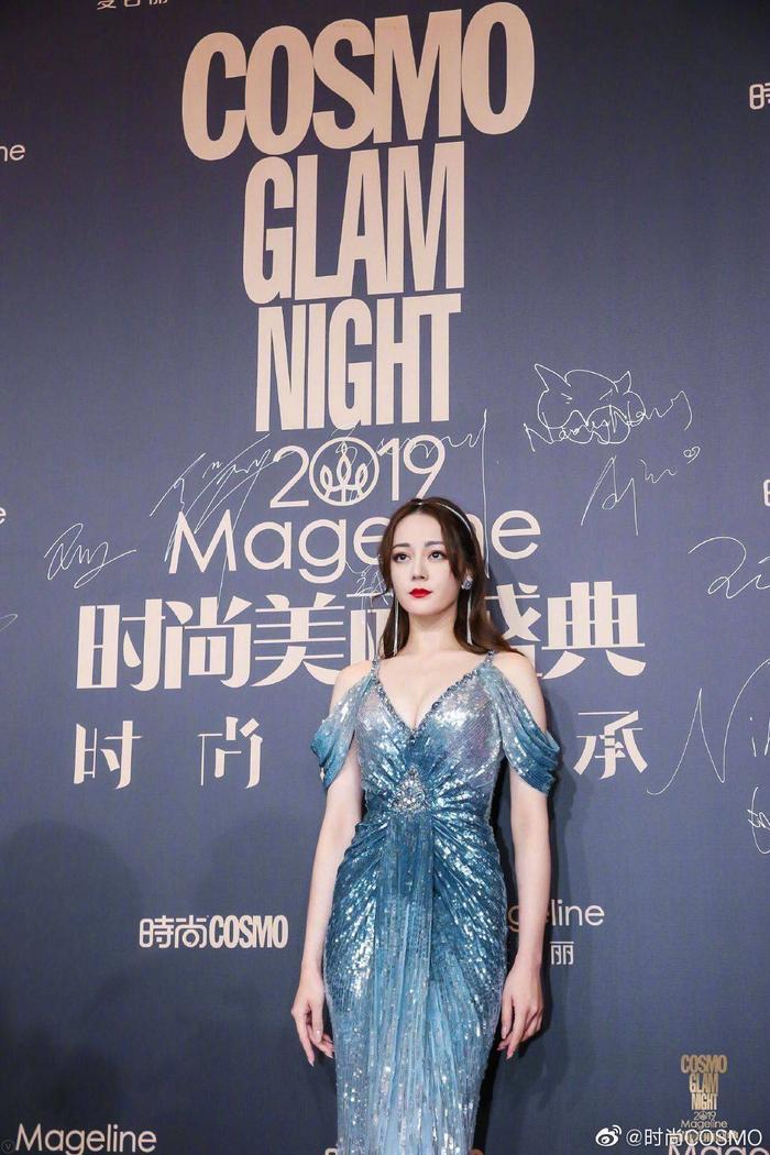 Lưu Thi Thi đẹp nền nã, Địch Lệ Nhiệt Ba khoe vòng một khủng trên thảm đỏ Cosmo Glam Night 2019 ảnh 2