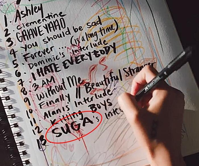 Fan phấn khích khi Suga (BTS) xuất hiện trong tracklist album mới của nữ ca sĩ Halsey