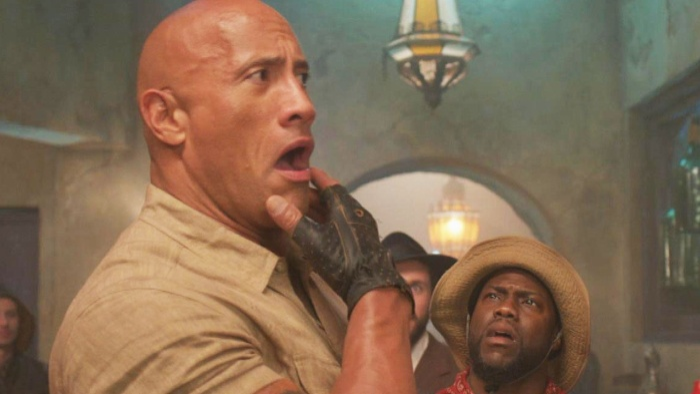 The Rock và Kevin trong Jumanji: The Next Level