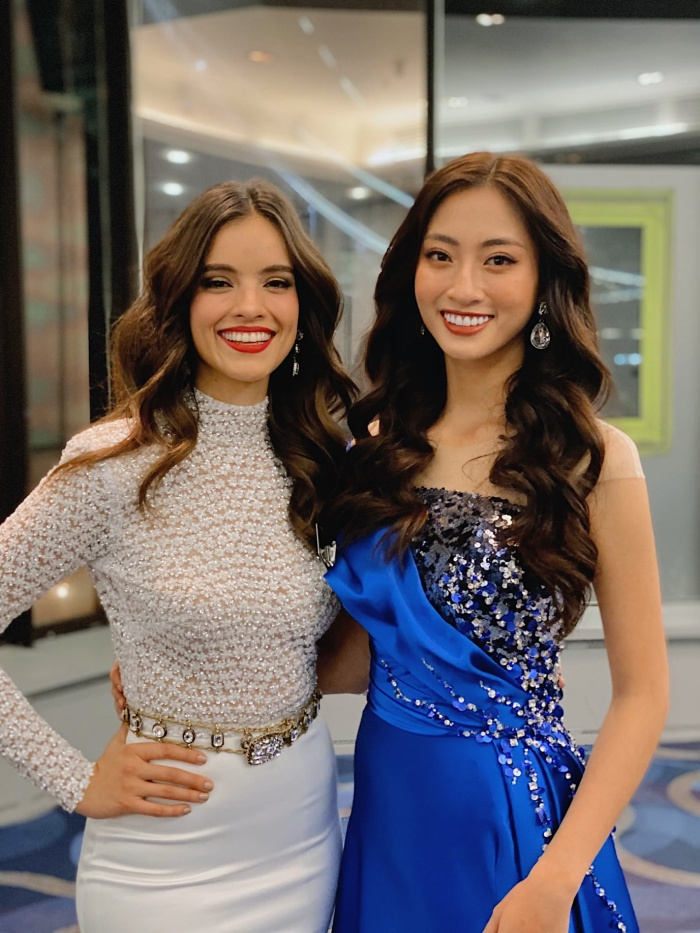 Lương Thùy Linh đọ sắc cùng đương kim Hoa hậu Thế giới – Vanessa Ponce.